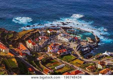 Porto Moniz in Madeira Portugal - travel background
