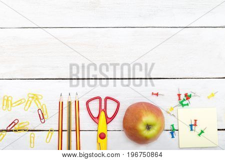 Mock up back to school. flat lay