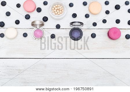 Backgrounds for your designs. round eye shadow and macarons