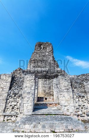 Temple In Xpujil, Mexico