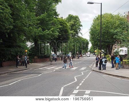 Abbey Road Crossing In London