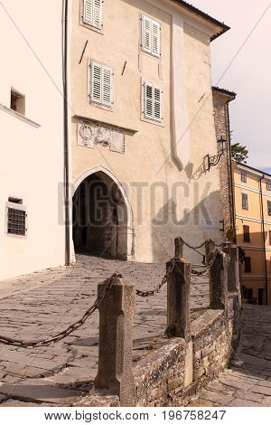 The main Town Gate in Motovun Istria. Croatia