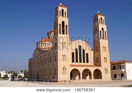 Agioi Anargyroi Orthodox Cathedral in Paphos, Cyprus.