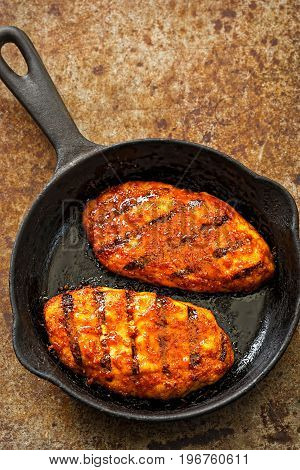 Sweet and sticky bbq grilled chicken breast