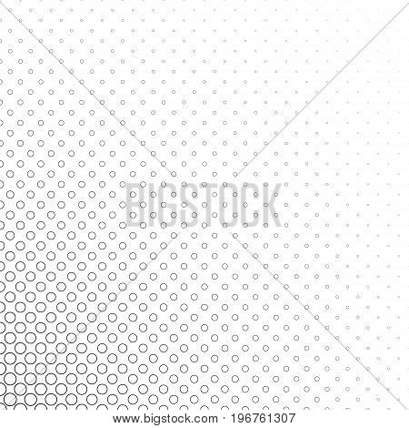 Monochromatic circle corner pattern - geometrical halftone abstract vector background illustration from rings