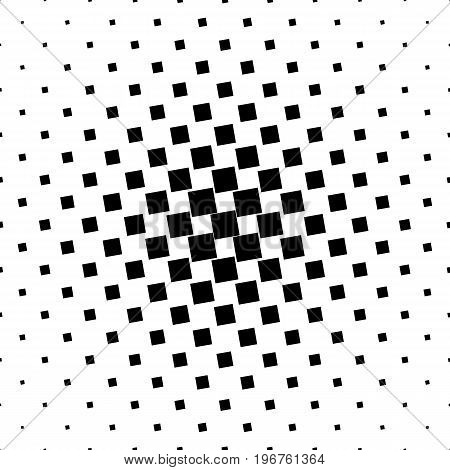Monochrome abstract square pattern background - black and white geometric halftone vector illustration from angular squares