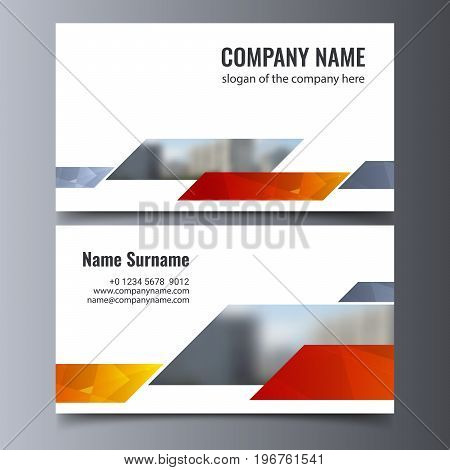 Vector business card template. Creative corporate identity layout. EPS 10