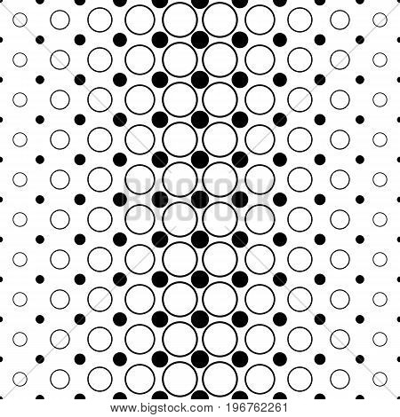 Monochromatic circle pattern - abstract geometrical vector background graphic from dots and circles