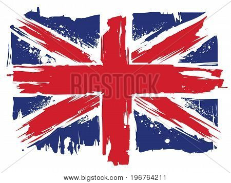 Union Jack. Flag of Great Britain in modern style