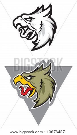 Eagle head mascot, colored version. Great for sports logo & team mascots.