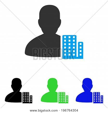 City Architect vector pictogram. Style is flat graphic city architect symbol using some color variants.