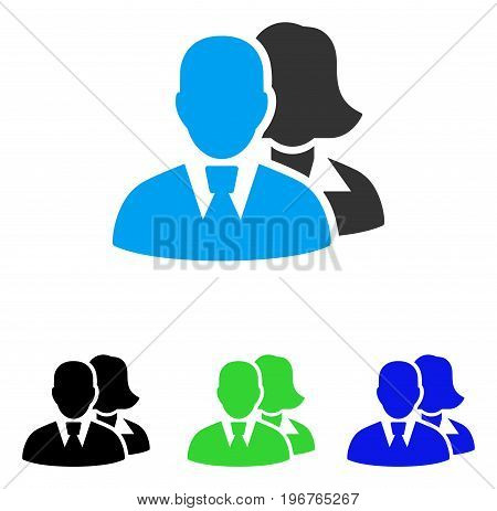 People vector pictogram. Style is flat graphic people symbol using some color variants.