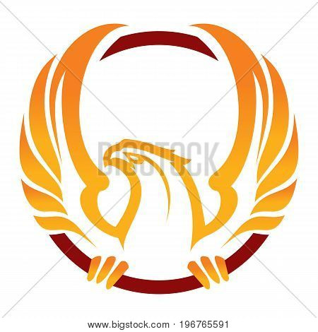 Phoenix sport mascot. Great for sports logo & team mascots.