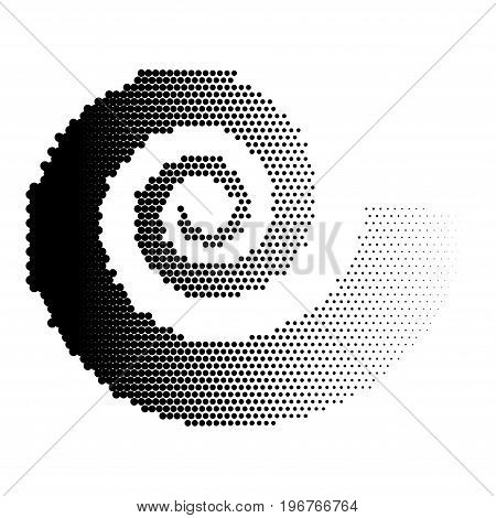 Abstract dotted background. Halftone effect. Vector texture. Modern background. Monochrome geometrical pattern. Strips of points. Black dots on white background.