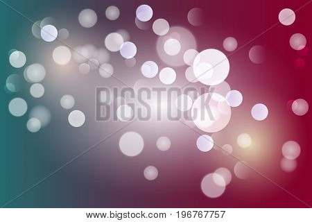 Vector illustration abstract color background with magic blur bokeh light effect. Christmas and new year 2018 template.