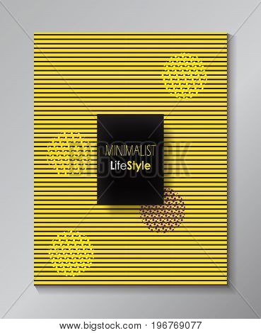 Exhibition catalog cover design. Abstract vector Art, Museum, business template. Brochure layout Dynamic modern poster with geometric shapes, lines pattern. Art Performance. Vector layout poster