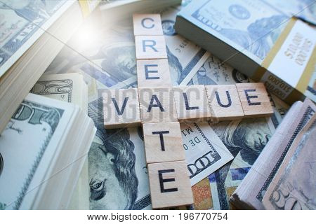 Create Value With Money High Quality Close Up