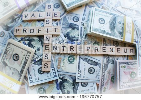 Business, Profits, Entrepreneur With Money High Quality