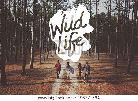 Wildelife Wanderlust Explore Journey Word Stamp Graphic