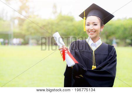 Happy Graduated Student Girl, Congratulations, Graduate Education Success, Concept Education