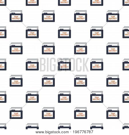 Top secret folder pattern seamless repeat in cartoon style vector illustration