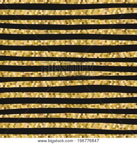 yellow pixelated backgound with irregular thick lines pattern vector illustration