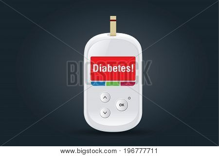 Medical devices for diabetes and blood glucose test have message