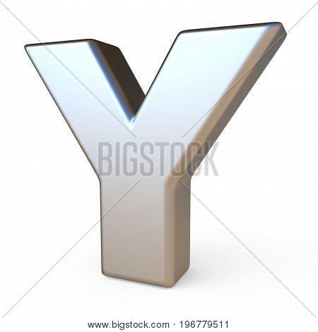 Metal Font Letter Y 3D