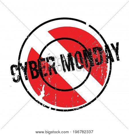 Cyber Monday rubber stamp. Grunge design with dust scratches. Effects can be easily removed for a clean, crisp look. Color is easily changed.