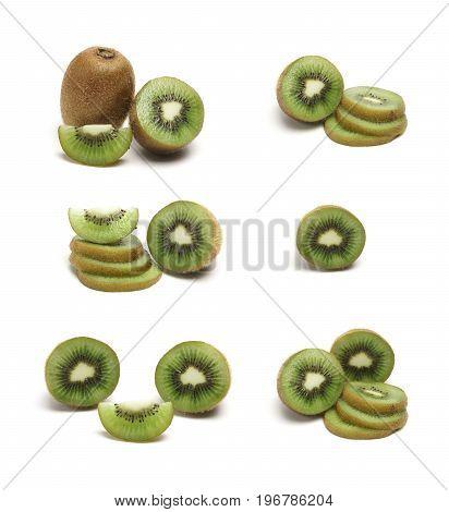 A Set Of Kiwi Fruit