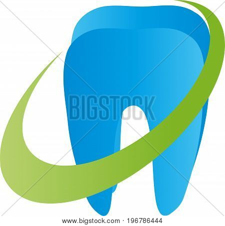 Tooth and circle, tooth and dentist logo