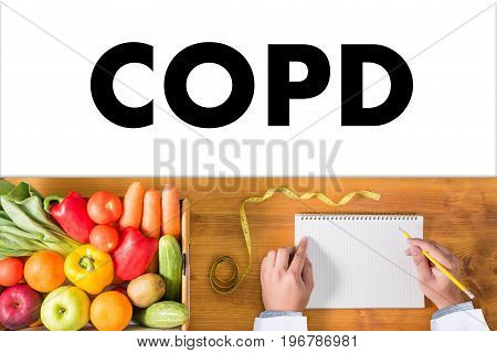 Copd Chronic Obstructive Pulmonary Disease Health Medical Concept