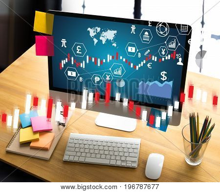 Financial Forex Stock Market, Financial, Business Candle Stick Graph Chart