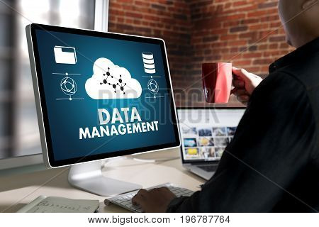Data Management File Database Cloud Network Technology Concept