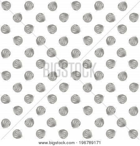 Gray, Silver Pastel Polka Dot Seamless Pattern, Acrylic Dotted Background.