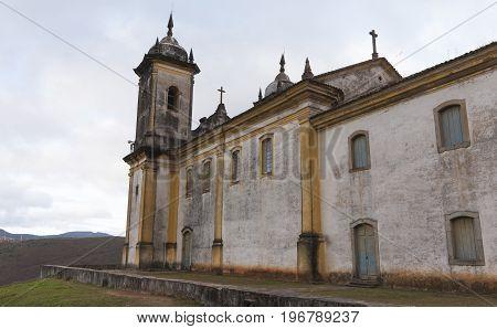 The church of San Francisco de Paula in Ouro Preto Minas Gerais was building in the Brazilian colonial period between 1804 and 1884. In rococo style.