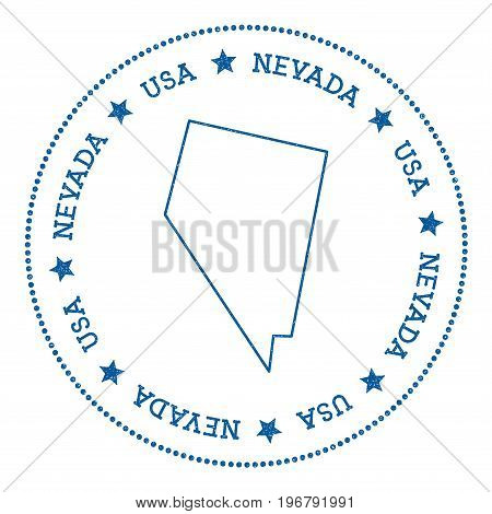 Nevada Vector Map Sticker. Hipster And Retro Style Badge With Nevada Map. Minimalistic Insignia With