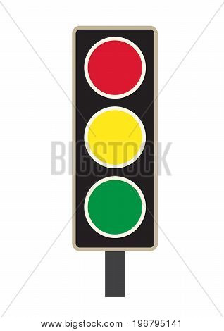 traffic light icon on white background. traffic light sign. flat style design.