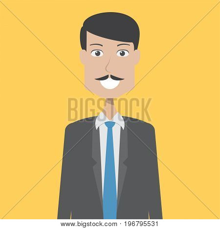Accountant Character Male | set of vector character illustration use for human, profession, business, marketing and much more.The set can be used for several purposes like: websites, print templates, presentation templates, and promotional materials.