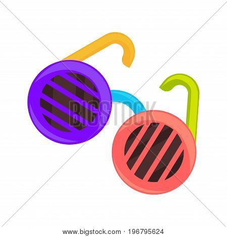 Vector illustration of bright sunglasses isolated on white.