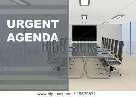 Urgent Agenda Concept