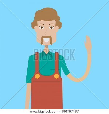 Cashierman Character | set of vector character illustration use for human, profession, business, marketing and much more.The set can be used for several purposes like: websites, print templates, presentation templates, and promotional materials.