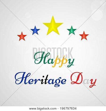 illustration of stars and Happy Heritage Day text on the occasion of Heritage Day