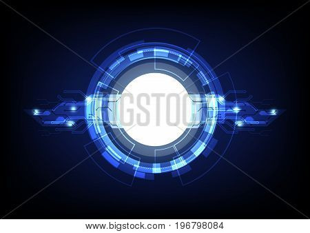 Blue lights technology abstract background, stock vector