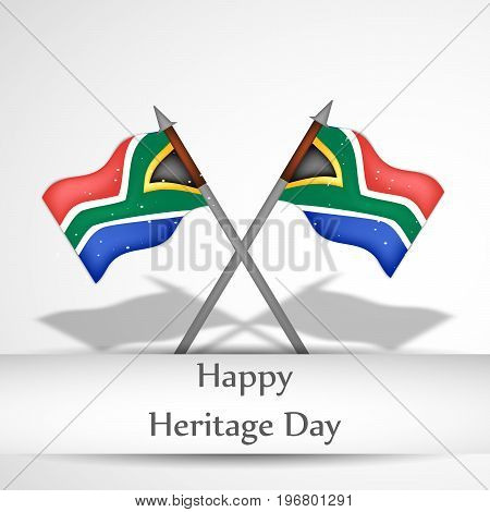 illustration of south Africa flags with Happy Heritage Day text on the occasion of Heritage Day