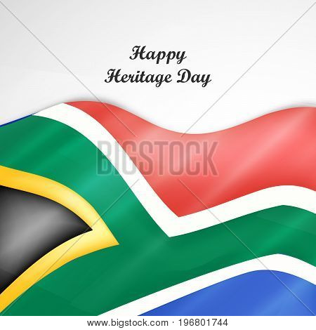 illustration of south Africa flag background with Happy Heritage Day text on the occasion of Heritage Day
