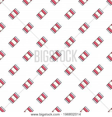 Wrapped candy pattern seamless repeat in cartoon style vector illustration