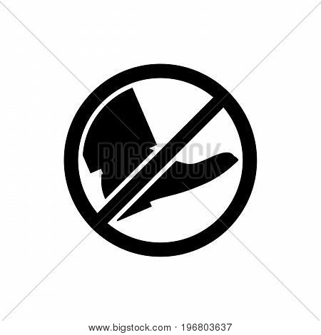 Black park sign do not go on the lawn. Vector illustration