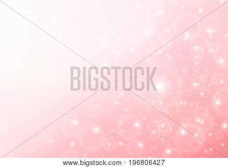 Abstract pastel color pink background with sparkle for valentine's day Vector Illustration