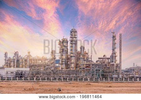 Oil refinery industrial plant